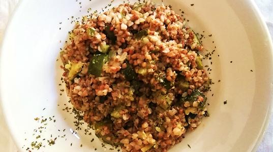 Grano saraceno con zucchine cremose