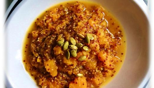 Mix di Quinoa rossa e gialla in crema di zucca