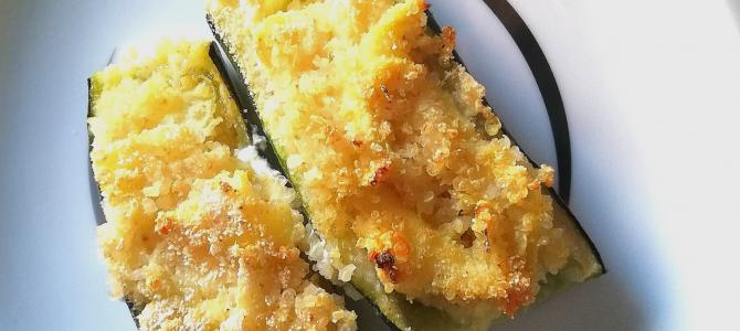 Zucchine ripiene al forno con quinoa e ricotta