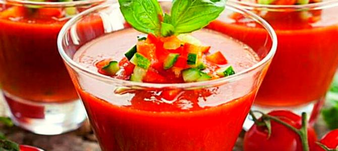 Gazpacho rosso con crudité di verdure, ricetta andalusa!